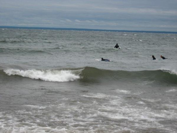 Surfing in Duluth.