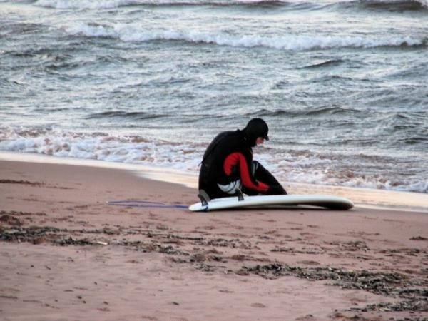 Surfing Lake Superior!