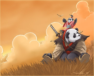 Ninja Panda & Tiny Friend