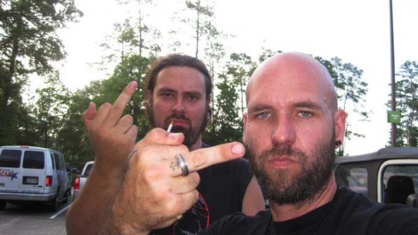 My boys Mike & James...James is the bassist for a death metal band in New Orleans named Goatwhore. They are hard core. Mike is the dude I grew up with in Ft. Lauderdale, FL.